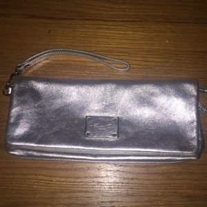 Kenneth Cole silver clutch